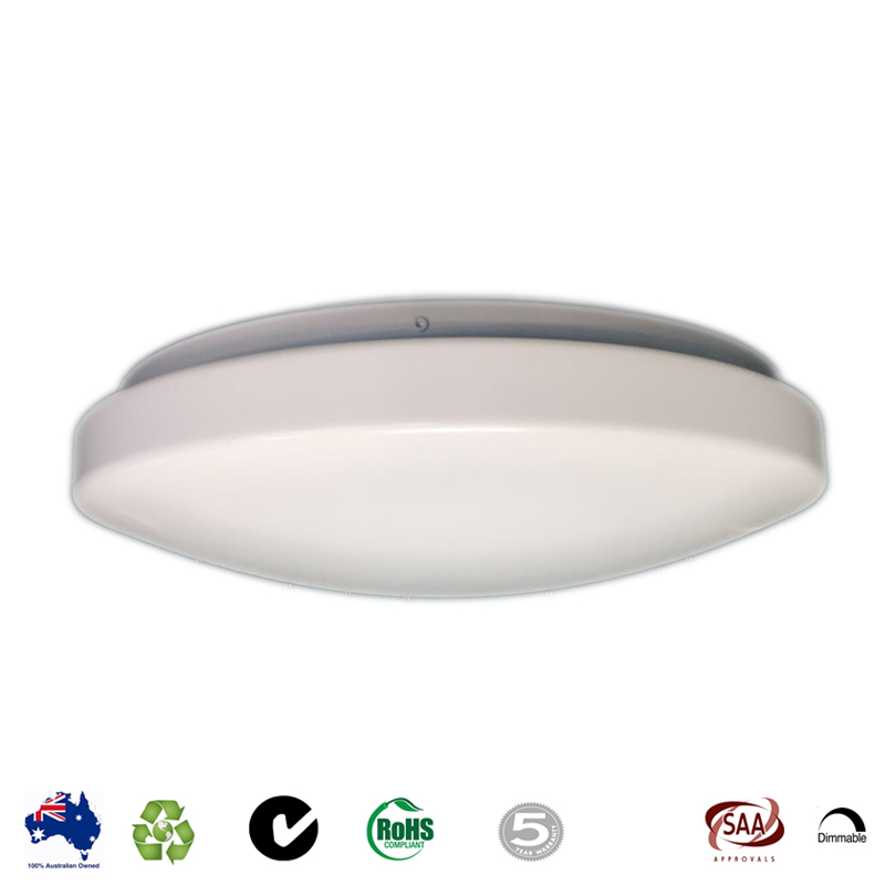 Led emergency ceiling oyster light 12w lighting electrical sale mozeypictures Gallery
