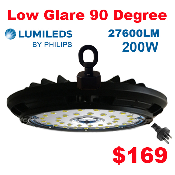 Low Bay Lights For Sale: 200W Low Glare Lumileds Philips HIGH BAY LIGHT